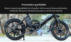 fiido d3 bici elettrica a pedalata assistita di piccole dimensioni